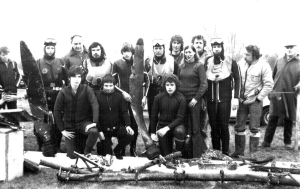 Club members c. 1976, recovering parts of a WWII bomber