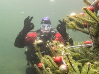 Christmas tree underwater