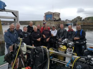 The group on the dive deck